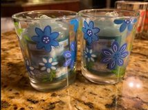 NEW 2 Blue and 2 Pink Glass Votive Candle Holders Votive Candles included. in Morris, Illinois