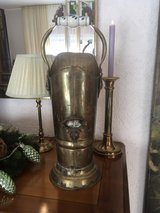 vintage umbrella stand with lion heads in Ramstein, Germany