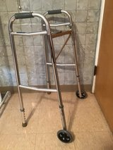 Walker adjustable with front wheels in Plainfield, Illinois