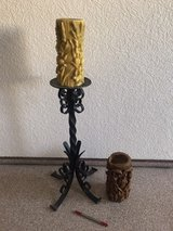 Heavy wrought-iron candle holder in Ramstein, Germany