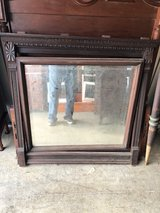 Walnut Beveled Mirror 1800's in Cherry Point, North Carolina
