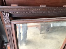 Antique Walnut Beveled Mirror 1800's in Cherry Point, North Carolina
