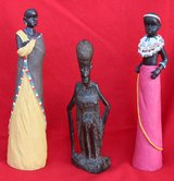 African small statuettes (3) in Okinawa, Japan