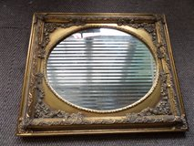 Gold Gesso Plaster Wood Baroque Mantle Vanity  Oval Mirror in Alamogordo, New Mexico