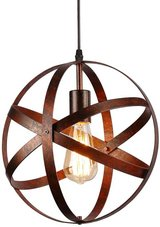 Industrial Vintage Globe Pendant Light Fixture,Metal Spherical Changeable Hanging Ceiling Light ... in Naperville, Illinois