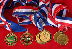 Sport medals (6) from Vicenza U.S.A. base in Okinawa, Japan
