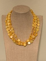 Yellow Shell Multistrand Necklace in Okinawa, Japan
