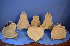5 Brown Bag Cookie Art Clay Molds in Naperville, Illinois