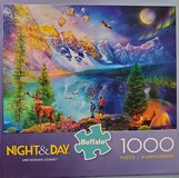 Jigsaw puzzle- Night & Day in St. Charles, Illinois