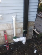 Deck fence repair , drains in Naperville, Illinois