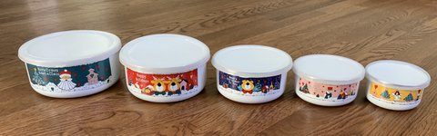 Metal Nesting Christmas Cookie Tins with Lids - Never Used in Naperville, Illinois