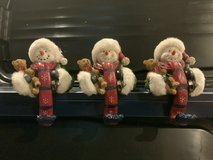 Heavy Duty Snowmen Christmas Stocking Holders for Fireplace Mantle in Naperville, Illinois