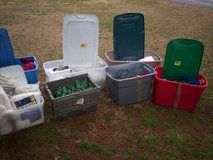 3 large totes and 4 - 18 gallon totes with stuff in them in Elizabethtown, Kentucky