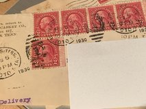 Rare George Washington Red 2 Cent Stamps in Beaufort, South Carolina
