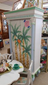 Palm Tree Painted Cabinet #1265-5999 in Camp Lejeune, North Carolina