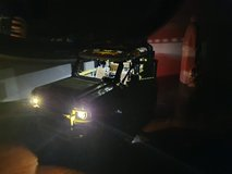 Lego-Land Rover with lights in Ramstein, Germany