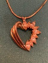 Heart Pendant Openwork Gold with CZs Signed Gallant and MADE in USA both on Back Rare Piece on V... in Kingwood, Texas
