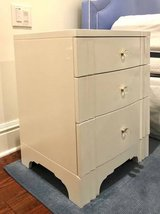 Pair of Bedside Tables white designer quality in Bellaire, Texas