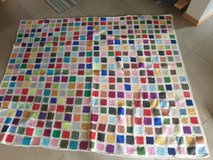 Vintage Hand Crocheted Granny Square Blanket in Spangdahlem, Germany