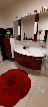 Bathroom furniture completly in Bordeaux color in Ramstein, Germany