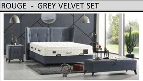 United Furniture - Rouge QS bed in Euro Size Including Mattress and Delivery in Wiesbaden, GE
