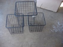SET OF THREE WIRE BIN CONTAINERS in St. Charles, Illinois