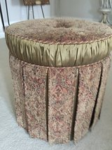 Gold and burgundy ottoman in Naperville, Illinois