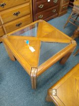 Oak and Glass End Table in St. Charles, Illinois
