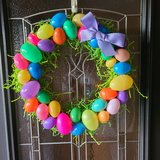 Easter Egg Straw Wreath in Naperville, Illinois