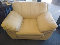 Cream Faux Leather Chair in Naperville, Illinois