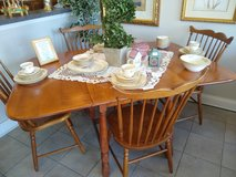 Maple drop leaf table and 4 chairs in Naperville, Illinois