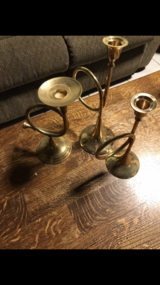 Brass instruments candlesticks, measuring spoon in Ramstein, Germany