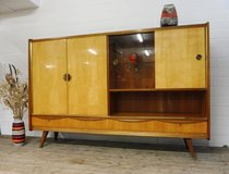 Mid Century Highboard with Light and Dark Birch in Ramstein, Germany