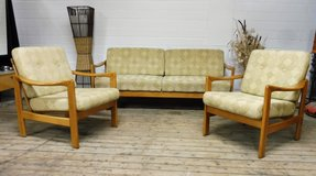 Rare Mid Century Danish Design Knoll Swivel Action Sleeper Couch Set in Ramstein, Germany