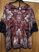 Multi-colored Print Top with Cut out Sleeves - Size XXL in Naperville, Illinois
