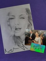Angelina Jolie (A4) Maleficent Signed Pencil Portrait Print in Lakenheath, UK
