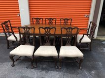 Mahogany Chippendale Chairs Solid  set of 8 in Cherry Point, North Carolina