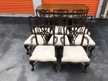 Solid Mahogany Chippendale Chairs set of 8 in Cherry Point, North Carolina