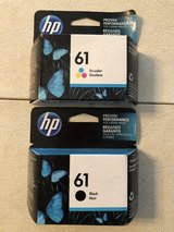 HP #61 Black and Color Printer Cartridges in Bolingbrook, Illinois