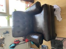 Leather Sofa and loveseat Couch for free in Ramstein, Germany
