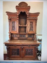 Anatique German 1800's Henry 11 QTR Oak Sideboard in Cherry Point, North Carolina