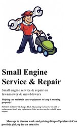 Small engine repair in Naperville, Illinois