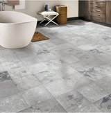 "Grey Marble 12"" Peel and Stick Vinyl Tile - 90 Square Feet in Naperville, Illinois"
