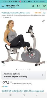 New In Box Recumbant Stationary Bike Many Features See Photos in Naperville, Illinois