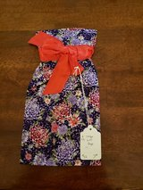 NEW Sewn Large Gift Bag Purple Flowers and Red Ribbon #92-4 in Warner Robins, Georgia