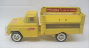 """VINTAGE BUDDY L - Pressed Steel - COCA-COLA Delivery Truck Yellow - COKE Toy - 15"""" in Naperville, Illinois"""