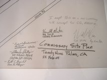 2001 COMMISSARY SITE PLANS in 29 Palms, California
