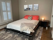Bedroom Set from Woodland Creek Furniture made of reclaimed wood in Bellaire, Texas