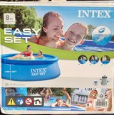 Inflatable Intex 8 ft Outdoor Pool with Filter in Naperville, Illinois