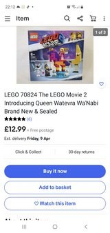 New Unopened Lego Movie 2 Queen Wateva Wa'Nabi 70824 Lego Set in Lakenheath, UK